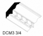 """WC-D  3-3/4""""X8'CROWN MOLDING WITH DENTAL INSERT"""