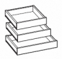 CA-A Base Cabinet:Roll Out Drawer Kit - B36