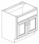 "CA-E Bathroon Vanity Cabinets:24"" Vanity Base 2 Door"