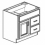 "WC-E 30"" Vanity W/1-Right Side Door, 2-Left Side Drawers"