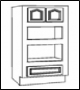 "CA-C Pantry and Oven Pantry:Wall Oven Cabinet 33""Wide X 24""Deep X 96""Height 1Doors 1Drawer"