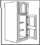 "CHG-C  WALL PANTRY 18""WX24""DX84""H 2D 5S"