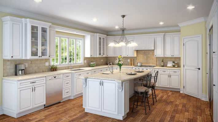Rich Pure White Cabinets